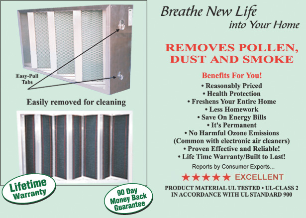 Ultimate electrostatic furnace air cleaner ultimate vent inc ultimate electrostatic aircleaner was developed for replacement of honeywell and lennox electronic air cleaners sciox Images